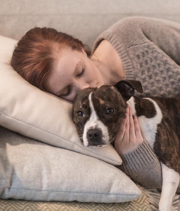 Blueair Case Study Woman with dog